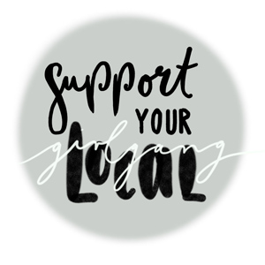 Handlettering Support your local girlgang